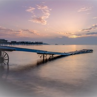 Buy canvas prints of Paignton in pink by kevin wise