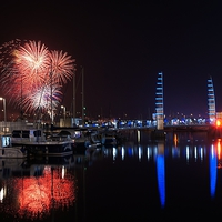 Buy canvas prints of Torbay Fireworks by kevin wise