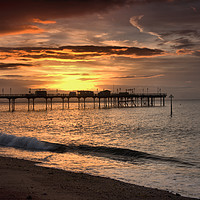 Buy canvas prints of   Teignmouth sunrise 4                             by kevin wise