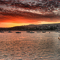 Buy canvas prints of Teignmouth sunset 1                                by kevin wise
