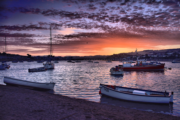 Teignmouth sunset 3                                Canvas Print by kevin wise