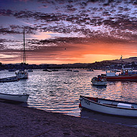 Buy canvas prints of Teignmouth sunset 3                                by kevin wise