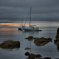 Buy canvas prints of      Two Yachts                                by kevin wise
