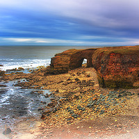 Buy canvas prints of Whitburn Arch 1 by kevin wise