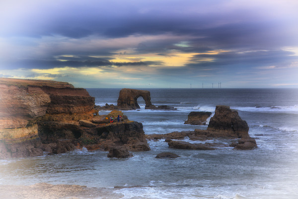 """Whitburn arch                                     Canvas Print by kevin wise"