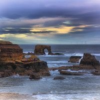 "Buy canvas prints of ""Whitburn arch                                     by kevin wise"