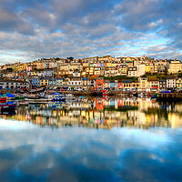 Buy canvas prints of Brixham reflection by kevin wise