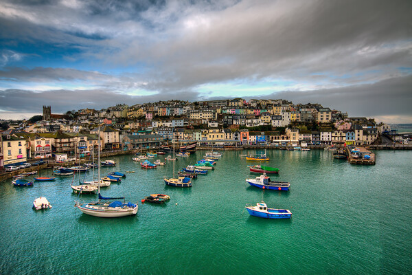 Brixham colours Canvas Print by kevin wise