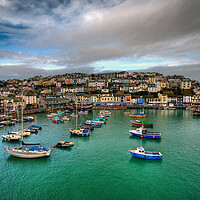 Buy canvas prints of Brixham colours by kevin wise