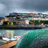 Buy canvas prints of Brixham fishing net by kevin wise
