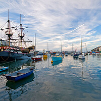 Buy canvas prints of Brixham Harbour Boats by kevin wise
