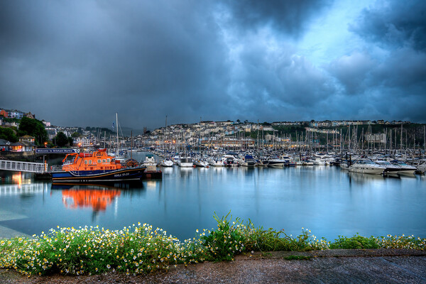 Brixham Lifeboat Canvas Print by kevin wise