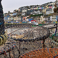 Buy canvas prints of Brixham Lobster Pots by kevin wise