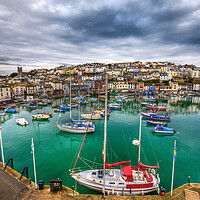 Buy canvas prints of Colours of Brixham by kevin wise