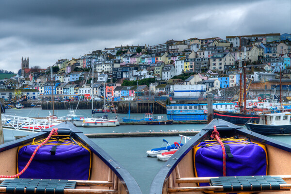 Side by Side in Brixham Canvas Print by kevin wise