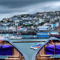 Buy canvas prints of Side by Side in Brixham by kevin wise