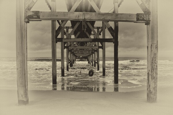 Steetley Pier Canvas Print by kevin wise
