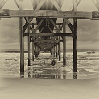 Buy canvas prints of Steetley Pier by kevin wise