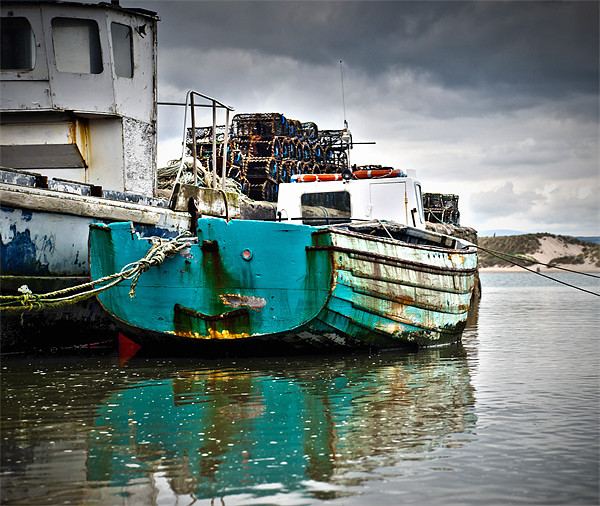 Fishing Boats Canvas print by Jamie Beck