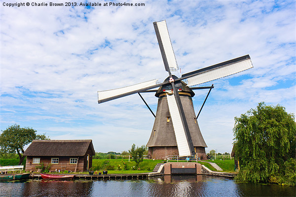 Dutch Windmill Canvas print by Charlie Brown