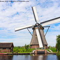 Buy canvas prints of Dutch Windmill by Charlie Brown