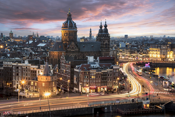 Amsterdam sunset Canvas print by Charlie Brown