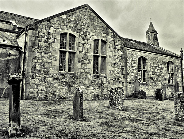 Village Church Canvas print by Buster Brown