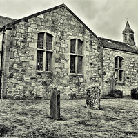 Buy canvas prints of Village Church by Buster Brown