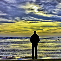 Buy canvas prints of Alone on the beach by Buster Brown