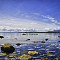 Buy canvas prints of Ardrossan Beach Scotland by Buster Brown