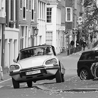 Buy canvas prints of Citroen DS in Amsterdam by Buster Brown
