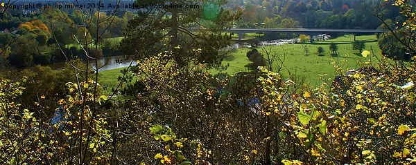 Autumn Landscape Framed Mounted Print by philip milner