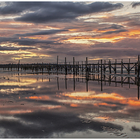 Buy canvas prints of Poole Harbour Sunset by stuart bennett