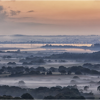 Buy canvas prints of  Poole Harbour Misty Morning  by stuart bennett
