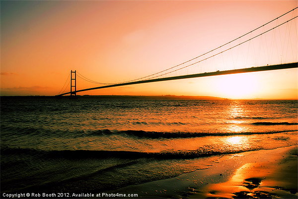 Sunset on The Humber Canvas print by Rob Booth