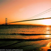 Buy canvas prints of Sunset on The Humber by Rob Booth