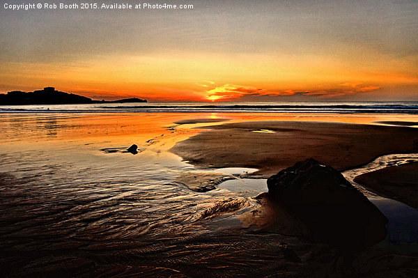 'Sunset Beach' Canvas print by Rob Booth