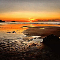 Buy canvas prints of  'Sunset Beach' by Rob Booth