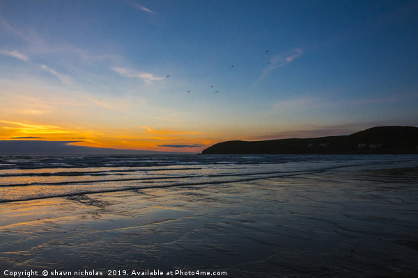 Croyde Bay, Devon Canvas Print by shawn nicholas