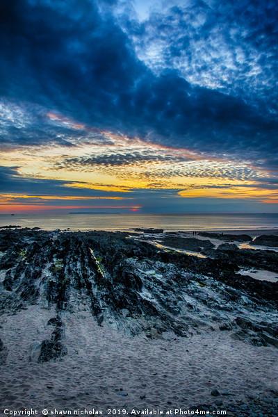 Sunset Over Croyde Bay, Devon Canvas Print by shawn nicholas