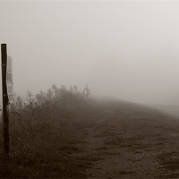 Buy canvas prints of Misty Footpath River Blackwater Essex by Dave Frost
