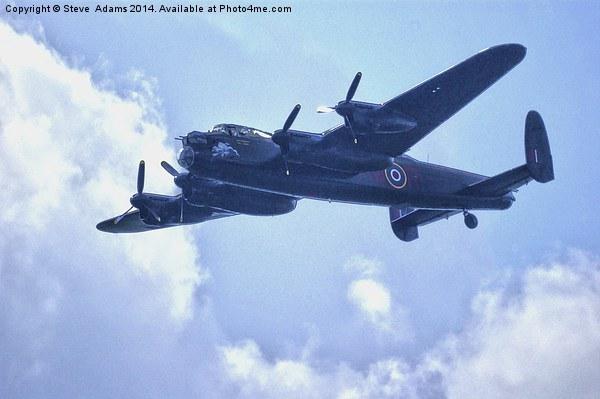 Lancaster Bomber Canvas print by Steve  Adams