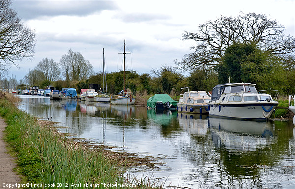 the chelmer and blackwater navigation canal Canvas print by linda cook