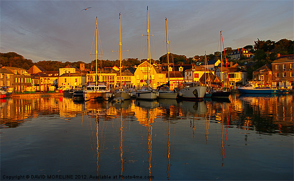 Padstow Harbour Canvas Print by David Moreline