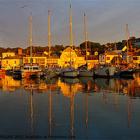 Buy canvas prints of Padstow Harbour by David Moreline