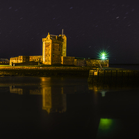 Buy canvas prints of Broughty Ferry Castle at Night by Lee Black