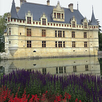 Buy canvas prints of Chateau D'Azay le Rideau Loire Valley  by Jacqui Farrell