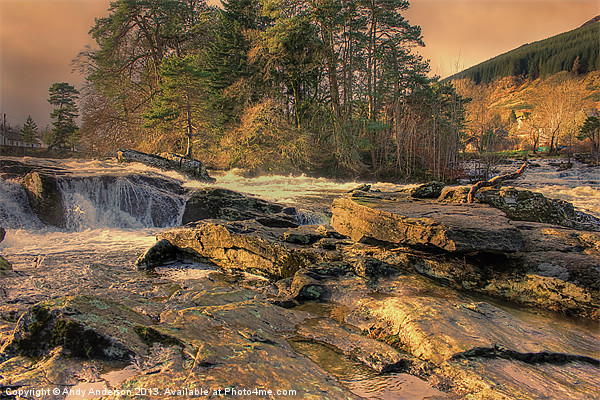 Falls of Dochart Canvas print by Andy Anderson