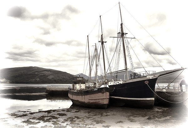 Inverary Museum and Vital Spark Canvas print by Andy Anderson