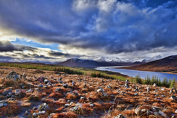 Scottish Highland Loch Canvas print by Andy Anderson